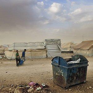 Syrische Flüchtlinge in einem jordanischen Zaatari Refugee Camp