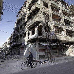 Zerstörte Städte in Syrien