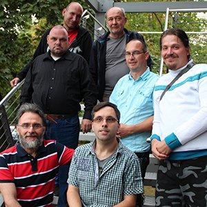 Der landesweite Sprecherrat der Werkstätten für Menschen mit Behinderung bei seinem jüngsten Treffen bei der Diakonie Sachsen.